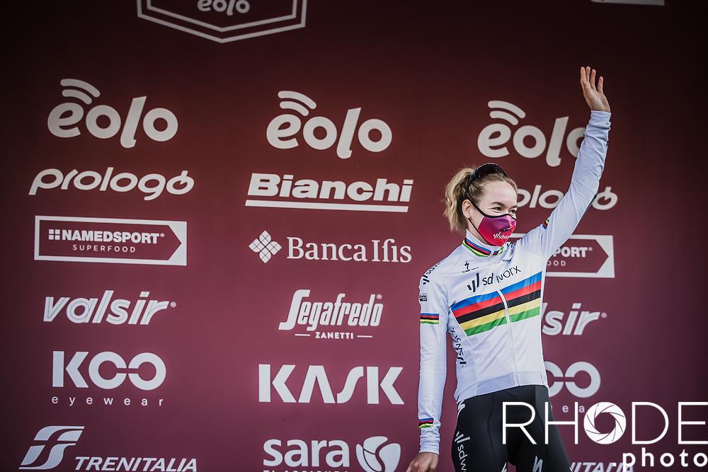 podium: 3th place finisher World Champion Anna van der Breggen (NED/SD Worx)7th Strade Bianche Women Elite <br /> Siena > Siena 136km<br /> <br /> ©RhodePhoto