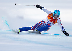 16-02-2014 SKIEN: OLYMPIC GAMES SCHANSSPRINGEN: SOTSJI<br /> Alexander Glebov of Russia in action during the mens Super G to the Olympic Winter Games Sochi 2014<br /> ***ONLY NETHERLANDS***<br /> ©2014-FotoHoogendoorn.nl