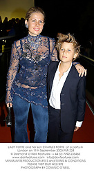 LADY FORTE and her son CHARLES FORTE  at a party in London on 11th September 2003.PMI 224