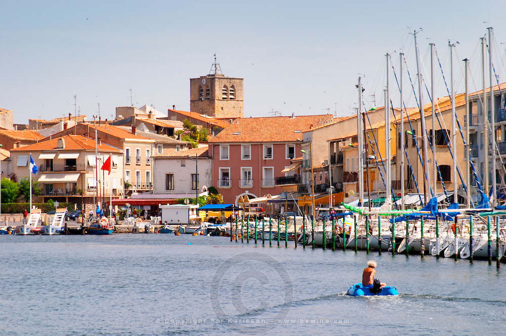 The pleasure boat harbour in Meze. Languedoc. France. Europe.