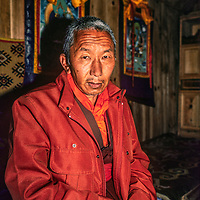 The Tibetan Buddhist Rimpoche at Tengboche Monastery in Nepal, Nawang Tenzing Jangpo who is considered as the incarnation of the founder Lama Gulu, an important spiritual leader of the Sherpas.