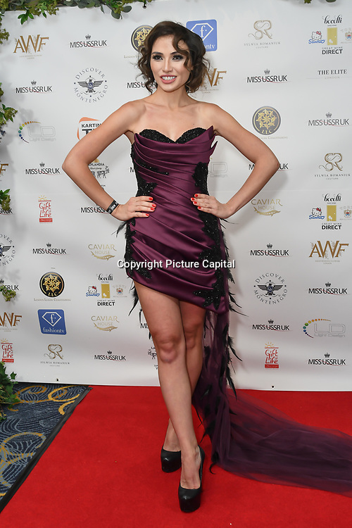 Irina Dedyuk is a singer and presenting for the Grand Final MISS USSR UK 2019 at ton On Park Lane on 27 April 2019, London, UK.