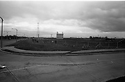 24/09/1963<br /> 09/24/1963<br /> 24 September 1963<br /> Brittain's new site at the Long Mile Road, Dublin. View of cattle still on the site as construction gets underway.