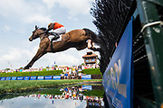April 29, 2017, 22nd annual Queen's Cup Steeplechase. SYROS and jockey Sean McDermott
