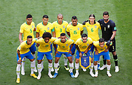 Team of Brazil before the 2018 FIFA World Cup Russia, round of 16 football match between Brazil and Mexico on July 2, 2018 at Samara Arena in Samara, Russia - Photo Tarso Sarraf / FramePhoto / ProSportsImages / DPPI