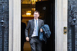 © Licensed to London News Pictures. 28/11/2017. London, UK. Health Secretary Jeremy Hunt leaves 10 Downing Street after the weekly Cabinet meeting. Photo credit: Rob Pinney/LNP
