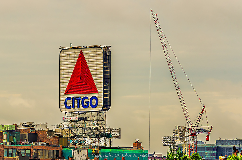 One of the best known views in Boston, the sign in Kenmore Square.  I've done several treatments on this in both color and black and white.  I hope you find one you like.