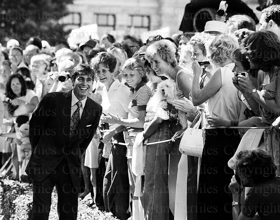 Prince Andrew seen during a visit to Vancouver, Canada in 1978. Photographed by Terry Fincher