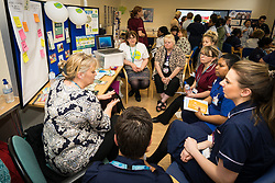 The Princess Alexandra Hospital, Harlow, Nursing & Midwifery Celebration Day - training and information, UK. Dying Matters stall - Dying Matters is a charity raising awareness of dying, death and bereavement