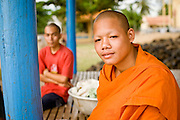 15 MARCH 2006 - PEAM CHIHYKAUNG, KAMPONG CHAM, CAMBODIA: A Buddhist monk at the monastery in Peam Chihykaung in central Cambodia. Photo by Jack Kurtz / ZUMA Press
