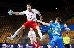 Szymon Sicko of Poland during handball match between National Teams of Slovenia and Poland in Qualification Phase 2 of Men's EHF Euro 2022 Qualifiers, on March 9, 2021 in Arena Zlatorog, Celje, Slovenia. Photo by Vid Ponikvar / Sportida