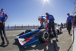 September 15, 2018 - Sonoma, California, United Stated - MATHEUS LEIST (4) of Brazil prepares to practice for the Indycar Grand Prix of Sonoma at Sonoma Raceway in Sonoma, California. (Credit Image: © Justin R. Noe Asp Inc/ASP via ZUMA Wire)