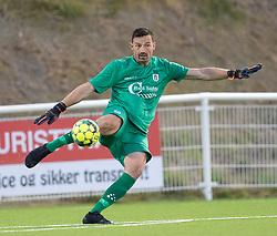 Kevin Stuhr Ellegaard (FC Helsingør) under kampen i 1. Division mellem FC Helsingør og Vendsyssel FF den 18. september 2020 på Helsingør Stadion (Foto: Claus Birch).