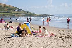 Families on the beach,