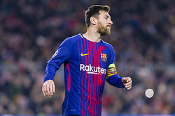 December 5, 2017 - Barcelona, Catalonia, Spain - FC Barcelona forward Lionel Messi (10) during the match between FC Barcelona - Sporting CP, for the group stage, round 6 of the Champions League, held at Camp Nou Stadium on 5th December 2017 in Barcelona, Spain. (Credit Image: © NurPhoto via ZUMA Press)