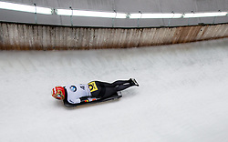 20.02.2016, Olympiaeisbahn Igls, Innsbruck, AUT, FIBT WM, Bob und Skeleton, Damen, Skeleton, 3. Lauf, im Bild Tina Hermann (GER) // Tina Hermann of Germany competes during women Skeleton 3rd run of FIBT Bobsleigh and Skeleton World Championships at the Olympiaeisbahn Igls in Innsbruck, Austria on 2016/02/20. EXPA Pictures © 2016, PhotoCredit: EXPA/ Johann Groder