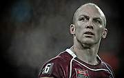 May 25th 2011: Darren Lockyer of the Maroons looks to the crowd after game 1 of the 2011 State of Origin series at Suncorp Stadium in Brisbane, Australia on May 25, 2011. Photo by Matt Roberts/mattrIMAGES.com.au / QRL