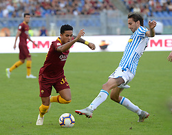 October 20, 2018 - Rome, Lazio, Italy - Justin Kluivert during the Italian Serie A football match between A.S. Roma and Spal at the Olympic Stadium in Rome, on october 20, 2018. (Credit Image: © Silvia Lore/NurPhoto via ZUMA Press)