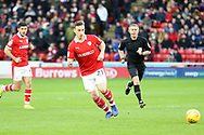 Barnsley midfielder Mike Steven Bahre (21) plays a pass  during the EFL Sky Bet League 1 match between Barnsley and Charlton Athletic at Oakwell, Barnsley, England on 29 December 2018.