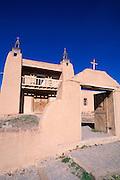 Church of San Jose de Gracia de Las Trampas along the high road to Taos, Las Trampas, New Mexico  .