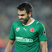 Bursaspor's Volkan SEN during their Turkish superleague soccer match Fenerbahce between Bursaspor at the Sukru Saracaoglu stadium in Istanbul Turkey on Sunday 03 April 2011. Photo by TURKPIX