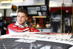 June 1, 2018 - Long Pond, Pennsylvania, United States of America - Ryan Reed (16) hangs out in the garage prior to practice for the Pocono Green 250 at Pocono Raceway in Long Pond, Pennsylvania. (Credit Image: © Justin R. Noe Asp Inc/ASP via ZUMA Wire)