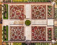 Aerial view of gardens in Jaipur, India
