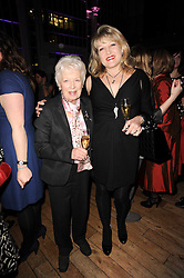 Left to right, JUNE WHITFIELD and AMANDA ROSS at the annual Orion Publishing Group's Author party held in the Paul Hamlyn Hall, The Royal Opera House, Covent Garden, London on 22nd February 2010.
