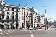 Architecture in Madrid, Alcala Street, Madrid, Spain