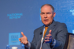 May 5, 2017 - Washington, DC, United States of America - U.S. Environmental Protection Agency Administrator Scott Pruitt during a discussion at the National Review Institute 2017 Ideas Summit March 17, 2017 in Washington, DC. (Credit Image: © Eric Vance/Planet Pix via ZUMA Wire)
