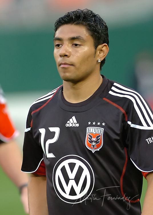 DC United midfielder Christian Castillo during pre game warm-ups. DC United lost its 2010 opening match 2-0 to the visiting New England Revolution at RFK Stadium in Washington, D.C.
