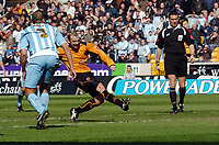 Photo: Kevin Poolman.<br />Wolverhampton Wanderers v Coventry City. Coca Cola Championship. 08/04/2006. Colin Cameron scores his goal for Wolves.
