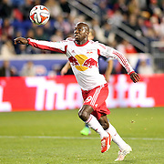 Bradley Wright-Phillips, New York Red Bulls, in action during the New York Red Bulls V Sporting Kansas City, Major League Soccer Play Off Match at Red Bull Arena, Harrison, New Jersey. USA. 30th October 2014. Photo Tim Clayton