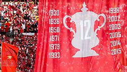 Flag listing Arsenal FA Cup wins - Rogan Thomson/JMP - 27/05/2017 - FOOTBALL - Wembley Stadium - London, England - Arsenal v Chelsea - FA Cup Final.