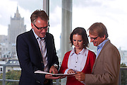 Moscow, Russia, 06/09/2012..Hans Christian Dall Nygård, Head of CapMan Russia, Senior Partner, with staff in the company's Moscow headquarters.