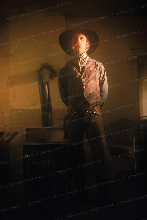 Cowboy at the Spanish Ranch in Nevada.