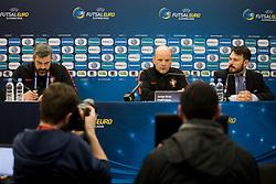 Jorge Braz, head coach of Portugal at press conference before final of UEFA Futsal EURO 2018, on February 9, 2018 in Arena Stozice, Ljubljana, Slovenia. Photo by Urban Urbanc / Sportida