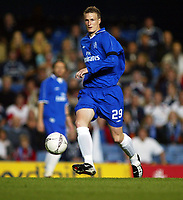 Fotball. 19. september 2002.<br /> Soccer. September 19 2002.<br /> UEFA Champions League. <br /> Chelsea - Viking 1-2. Robert Huth, Chelsea.<br /> Photo: Anders Hoven, Digitalsport.