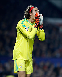 Benfica's Goalkeeper Mile Svilar during the UEFA Champions League, Group A match at Old Trafford, Manchester. PRESS ASSOCIATION Photo. Picture date: Tuesday October 31, 2017. See PA story SOCCER Man Utd. Photo credit should read: Martin Rickett/PA Wire