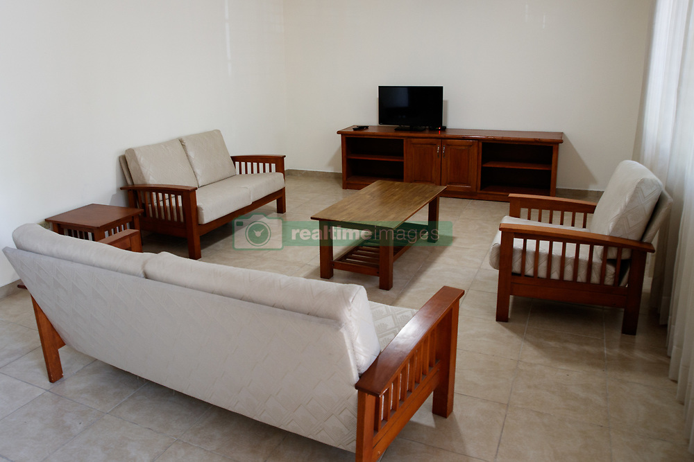 EXCLUSIVE: This is the luxury apartment complex in a run-down area of Port-au-Prince, Haiti, where a regional Oxfam director and aid workers are alleged to have exploited locals for sex after the 2010 earthquake in the poverty-stricken nation. 12 Feb 2018 Pictured: GV of the living room inside one of the apartments. Photo credit: MEGA TheMegaAgency.com +1 888 505 6342