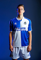 Tom Lockyer of Bristol Rovers poses in the new Home Strip ahead of the 2015/16 Sky Bet League Two campaign - Mandatory byline: Rogan Thomson/JMP - 07966 386802 - 22/07/2015 - SPORT - Football - Bristol, England - Memorial Stadium - Bristol Rovers Kit Launch.