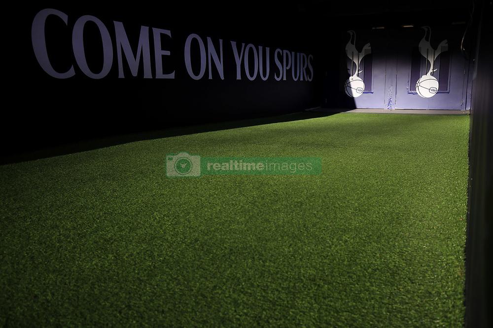 7 January 2018 -  The FA Cup - 3rd Round - Tottenham Hotspur v AFC Wimbledon - Sunlight illuminates the players tunnel at Wembley Stadium - Photo: Marc Atkins/Offside
