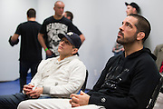 DALLAS, TX - MARCH 14:  Matt Brown waits backstage before his fight against Johny Hendricks during UFC 185 at the American Airlines Center on March 14, 2015 in Dallas, Texas. (Photo by Cooper Neill/Zuffa LLC/Zuffa LLC via Getty Images) *** Local Caption *** Matt Brown