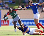 Humphrey Kayange of Kenya in action during the IRB Rugby Sevens tournament held at Adelaide Oval,Adelaide, South Australia,Saturday, April 5, 2008.<br /> Photo;Michael Oakes/SMP<br /> Conditions of Use: This image is intended for editorial use only (EG: news or commentary, print or electronic).  Any commercial or promotional use requires additional clearance.  Please contact for details.