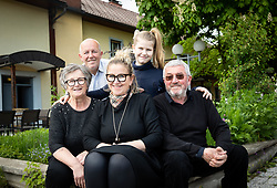 Mojca Trnovec, owner of Restaurant Gostilna Mihovec with her family, on May 10, 2019, in Zgornje Pirnice, Slovenia. Photo by Vid Ponikvar / Sportida