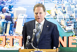 November 21, 2018 - New York, NY, U.S - GEOFFREY BERMAN, United States Attorney for the Southern District of New York, speaking at the Joint Terrorism Task Force (JTTF) in New York City, New York on November 21, 2018. (Credit Image: © Michael Brochstein/ZUMA Wire)