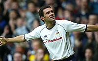 Photo. Aidan Ellis<br />Tottenham Hotspur v Sunderland . Barclaycard Premiership. 08/02/2003<br />spurs Gustavo poyet celebrates the first goal