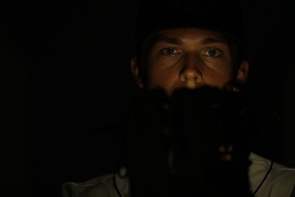 Charleston RiverDogs' pitcher Glenn Otto (19). <br /> Charleston RiverDogs Preseason Media Day at Joseph P. Riley Park in Charleston, S.C. on Monday, April 2, 2017.<br /> Zach Bland/Charleston RiverDogs
