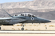 """Israeli Air Force (IAF) McDonnell Douglas F-15D Landing. Photographed During the  """"Blue-Flag"""" 2017, an international aerial training exercise hosted by the Israeli Air Force (IAF) at Ouvda airfield, Israel. November 2017"""