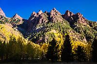 Sievers Mountain during the autumn season.  Elk Mountains, Colorado.  USA